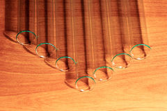 Laboratory Test Tubes, Vials, on wood background Stock Photography