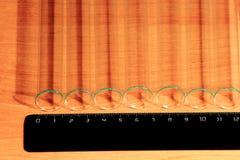Laboratory Test Tubes, Vials, on wood background Royalty Free Stock Image