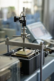 Laboratory testing equipment for civil engineering, direct shear machine at work, closeup Royalty Free Stock Photography