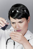Laboratory tests, water and other liquid contamination Stock Photo
