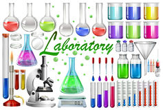 Laboratory tools and equipments. Illustration Royalty Free Stock Photo