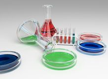 The laboratory tust tubes Stock Photo