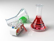 The laboratory tust tubes Royalty Free Stock Photos