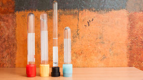 Laboratory vacutainer blood collection tubes Royalty Free Stock Photography