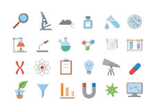 Laboratory vector icons set. Set of 24 Laboratory vector icons Royalty Free Stock Images