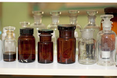 Laboratory vials Stock Images
