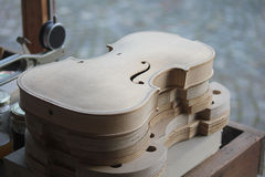 Laboratory violins. A laboratory with some violins Stock Photography