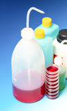 Laboratory Wash Bottles for science experiment, dispensing bottl Royalty Free Stock Image