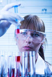 Laboratory, The Woman in the lab experimenting Stock Photo
