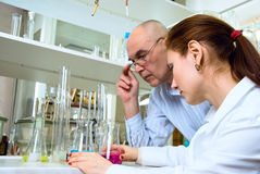 Laboratory work Stock Photos