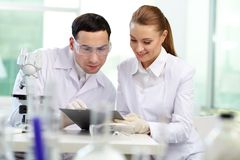 Laboratory work Royalty Free Stock Photos