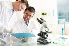 Laboratory work Royalty Free Stock Photo