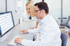 In the laboratory Stock Images