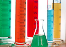 laboratoryjne cylindrów Zdjęcie Royalty Free