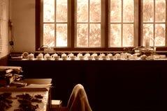 Laboratório na fábrica do chá Foto de Stock Royalty Free