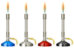Laborbrenner mit Flamme vektor abbildung