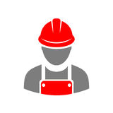 Laborer builder vector icon. Illustration Royalty Free Stock Image