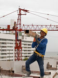 A laborer builds in Thailand , Royalty Free Stock Photo