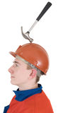 Laborer with hammer Stock Images