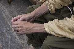 A laborer's hands Royalty Free Stock Photography