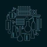 Laborglaskreis Stockfoto