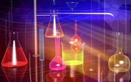 Laborglaswaren stock abbildung