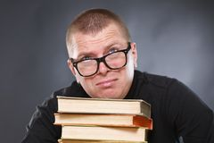 Laborious knowledge of the professor. Royalty Free Stock Images