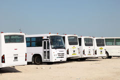 Labors transport in Doha, Qatar Royalty Free Stock Photography