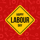 Labour day banner design Stock Images
