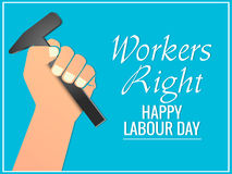 Labour Day. Creative  abstract for Labour Day with nice illustration in a creative background Royalty Free Stock Image