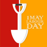 Labour Day. Creative  abstract for Labour Day with nice illustration in a creative background Stock Photography