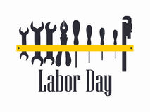 Labour Day. Engineer labour tools. Vector. Illustration Stock Photos