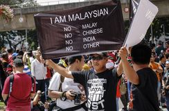 Labour Day in KL GST rally 2015 Stock Photo