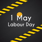 Labour Day 1 May Poster. Vector Illustration Background Royalty Free Stock Images