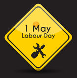 Labour Day 1 May Poster. Vector Illustration Background Stock Image