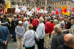 Labour Day Rally in Munich Stock Photography