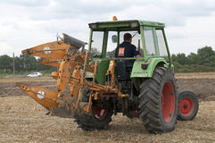 Labour Day in Sable sur Sarthe, France ,October 4, 2014 Stock Photos