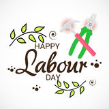 Labour Day. Vector illustration of a Banner for Labour Day Stock Photography