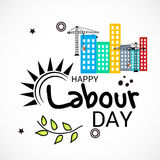 Labour Day. Vector illustration of a Banner for Labour Day Stock Photo