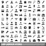 100 labour icons set, simple style. 100 labour icons set in simple style for any design vector illustration vector illustration