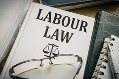 Labour or labor law book. Legislation and justice concept Royalty Free Stock Photo