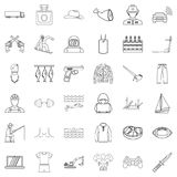 Labour law icons set, outline style. Labour law icons set. Outline set of 36 labour law vector icons for web isolated on white background Royalty Free Stock Image