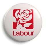 Labour Party Great Britain Campaign Button. CIRCA FEBRUARY 2019 - LONDON: logo of the political party `Labour Party` Great Britain. - Image royalty free illustration