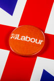 Labour Party Pin Badge Stockfoto