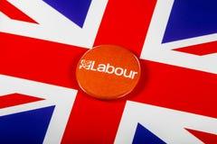 Labour Party Pin Badge Lizenzfreie Stockbilder