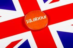 Labour Party Pin Badge Lizenzfreie Stockfotografie