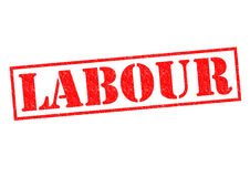 LABOUR. Red Rubber Stamp over a white background Royalty Free Stock Images