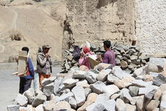 Labour Working(Ladakh). Royalty Free Stock Photo