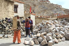 Labour Working(Ladakh). Stock Image