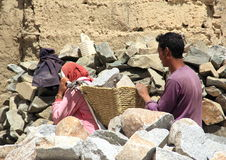 Labour Working In Ladakh. Stock Photography